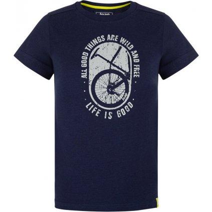 Dětské triko LOAP Baakis s krátkým rukávem modré