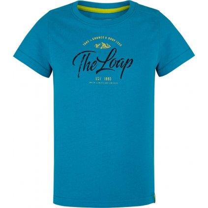 Dětské triko LOAP Baksus s krátkým rukávem modré