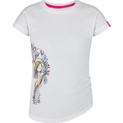 Dětské triko LOAP Barue s krátkým rukávem bílé