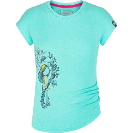 Dětské triko LOAP Barue s krátkým rukávem modré