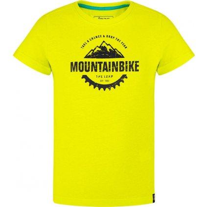 Dětské triko LOAP Bardos s krátkým rukávem žluté