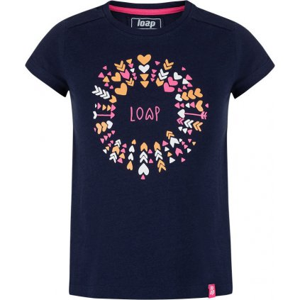 Dětské triko LOAP Barie s krátkým rukávem modré