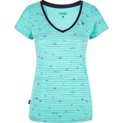 Dámské triko LOAP Baffy s krátkým rukávem modré