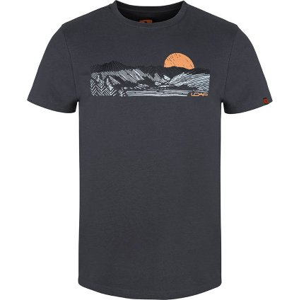 Pánské triko LOAP Anas s krátkým rukávem šedé