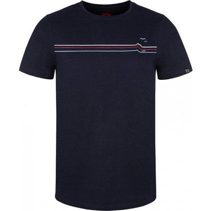 Pánské triko LOAP Andre s krátkým rukávem modré
