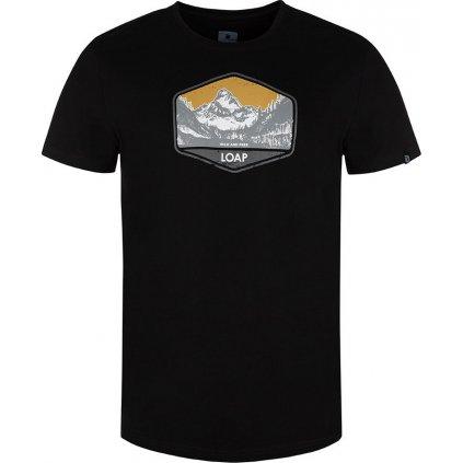 Pánské triko LOAP Bolter s krátkým rukávem černé