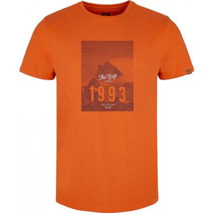 Pánské triko LOAP Anill s krátkým rukávem oranžové
