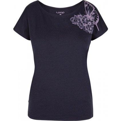 Dámské triko LOAP Babea s krátkým rukávem modré