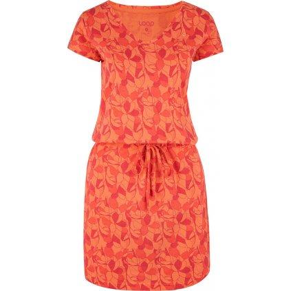 Dámské šaty LOAP Banyta oranžové