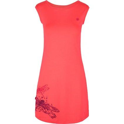 Dámské funkční šaty LOAP Minon růžové