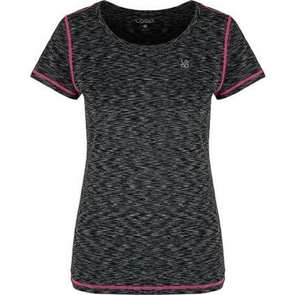 Dámské funkční triko LOAP Madam s krátkým rukávem černé