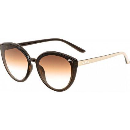 Sluneční brýle RELAX Diva hnědé