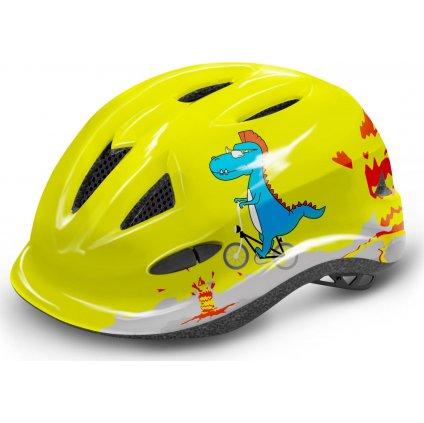 Dětská cyklistická helma R2 Lucky žlutá