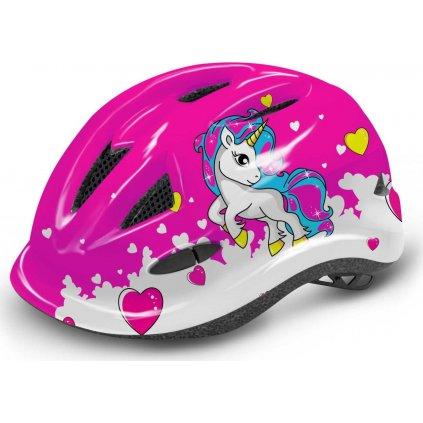 Dětská cyklistická helma R2 Lucky růžová
