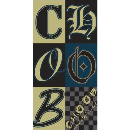 Šátek YATE Trekmates Choob Chess Petrol
