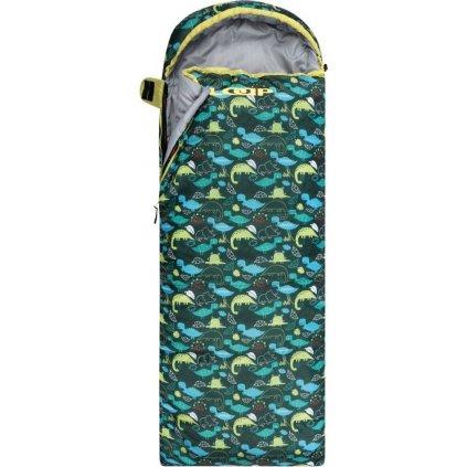 Dětský spací pytel dekový LOAP Fiemme Dinos zelený