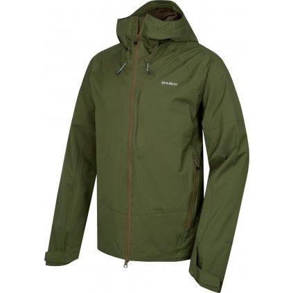 Pánská hardshellová bunda HUSKY Nicker M tm.zelená