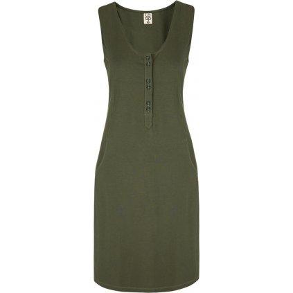 Dámské sportovní šaty LOAP Nami zelené