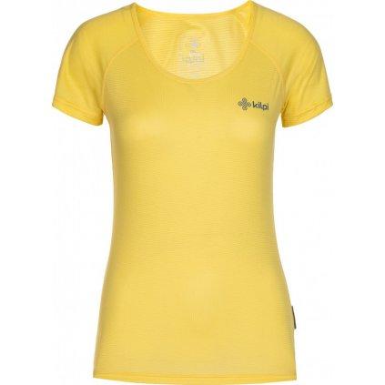 Dámské běžecké tričko KILPI Dimaro-w žlutá
