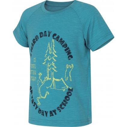 Dětské triko HUSKY Zingl Kids tm. tyrkysová