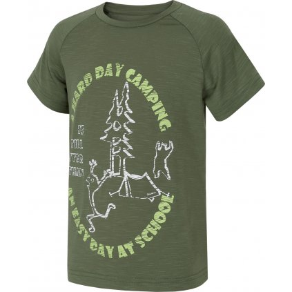 Dětské triko HUSKY Zingl Kids tm. zelená