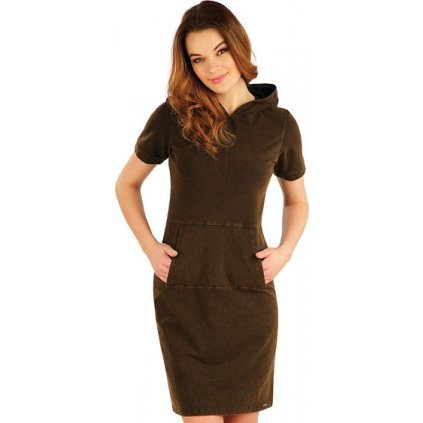 Dámské šaty LITEX dlouhé s krátkým rukávem
