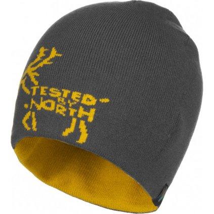 Zimní oboustranná čepice KILPI Hamer-m žlutá