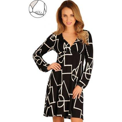 Dámské šaty LITEX s dlouhým rukávem černá