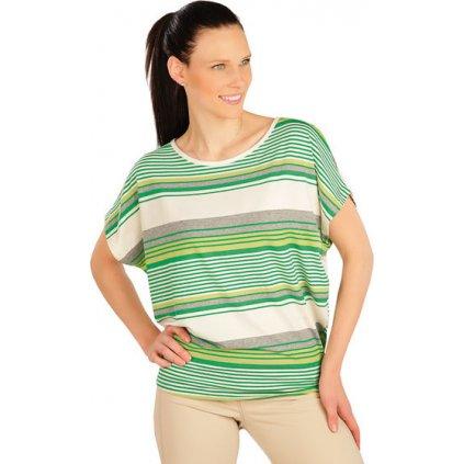 Dámské tričko LITEX s krátkým rukávem zelená