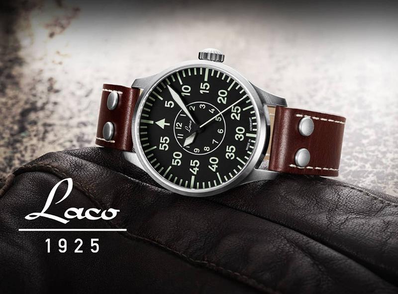 Historie německých pilotních hodinek LACO