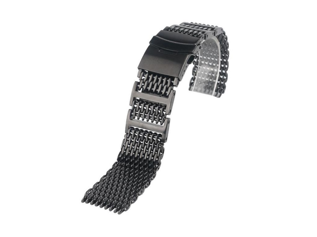 Geckota luxusní ocelový řemínek PVD Shark Mesh