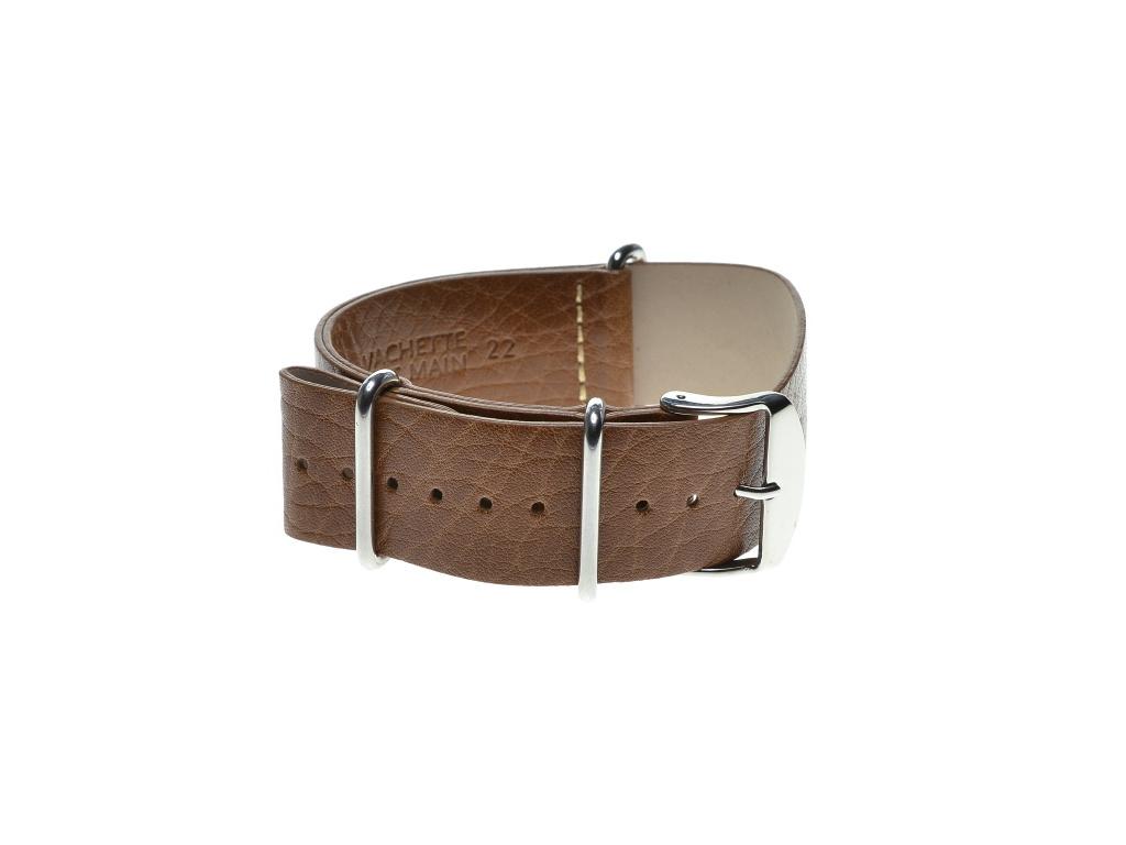 Speciální průvlekový pásek na hodinky ZULU, světle hnědý