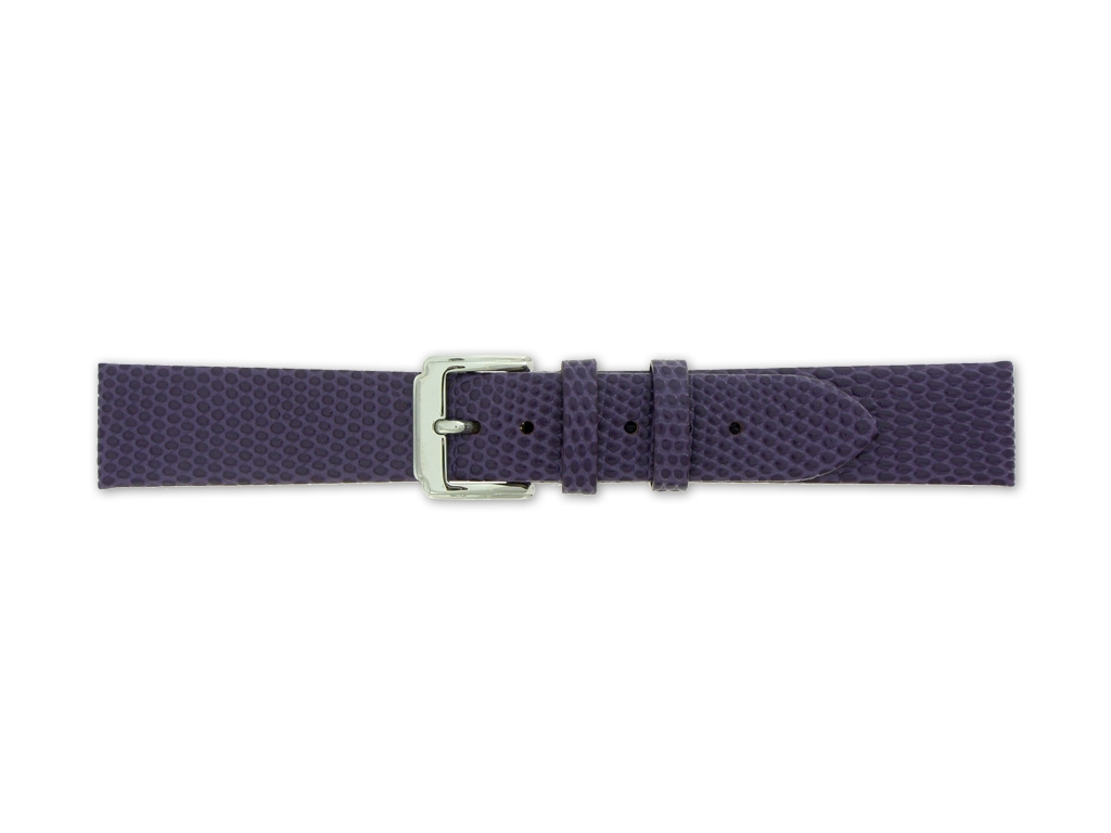 Mavex fialový strukturovaný kožený pásek se vzorem ještěrky
