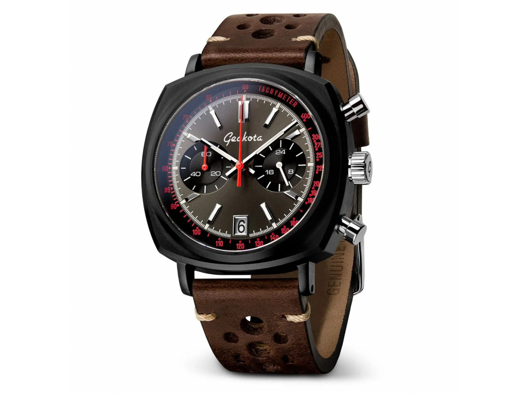 Geckota C-01 SII Racing Chronograf Watch Black-Red