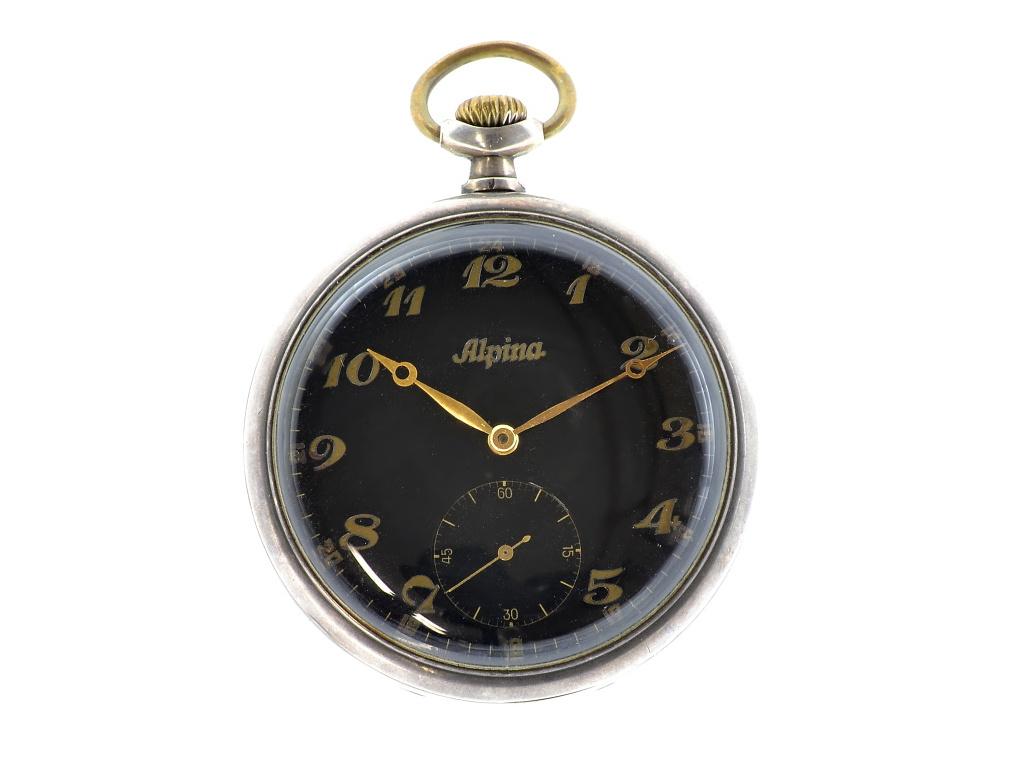 Alpina kapesní vojenské hodinky 1930-1940 d4762c22ea
