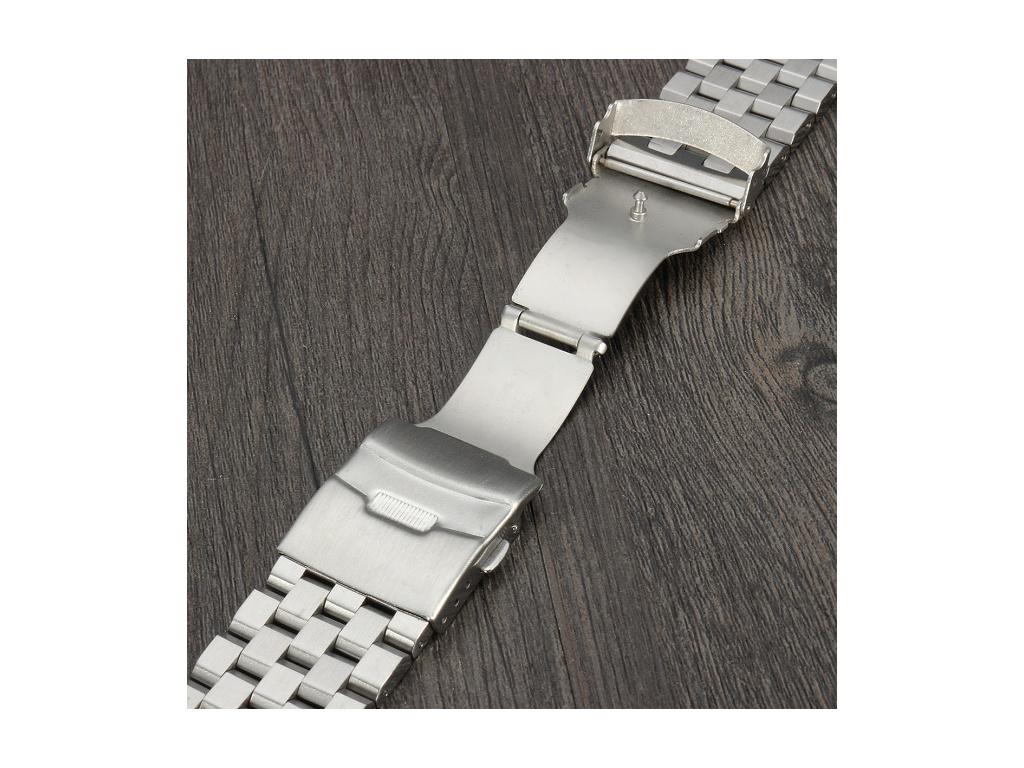 Solid luxusní ocelový řemínek pětilinkový  + + Zdarma zkrácení řemínku + 1 měsíc na vrácení