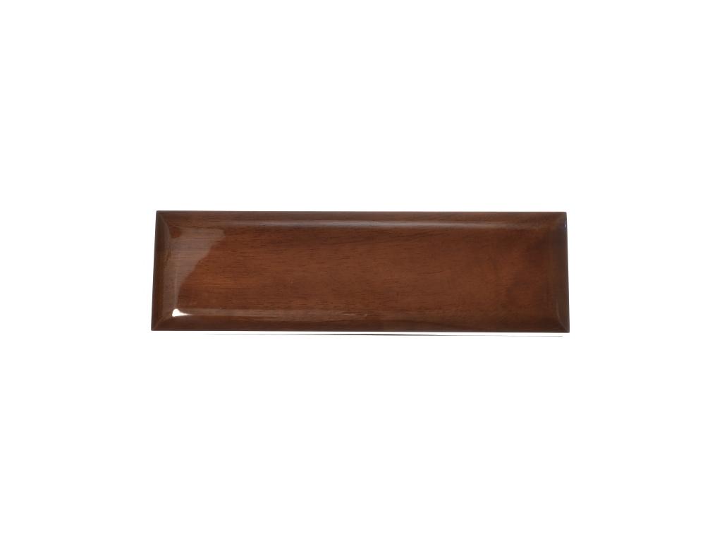 Dřevěná lakovaná dárková krabička na hodinky