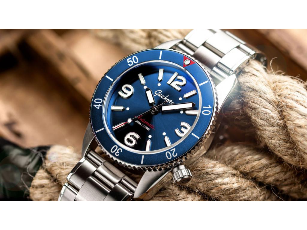 Geckota S-01 Vintage Diver ETA 2824-2 Blue / Limitovaná edice 100 kusů