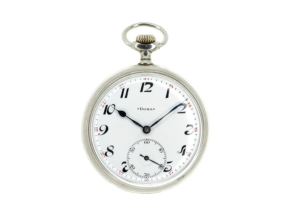 Doxa švýcarské dvouplášťové kapesní hodinky 1910-1920  + Dárek k objednávce