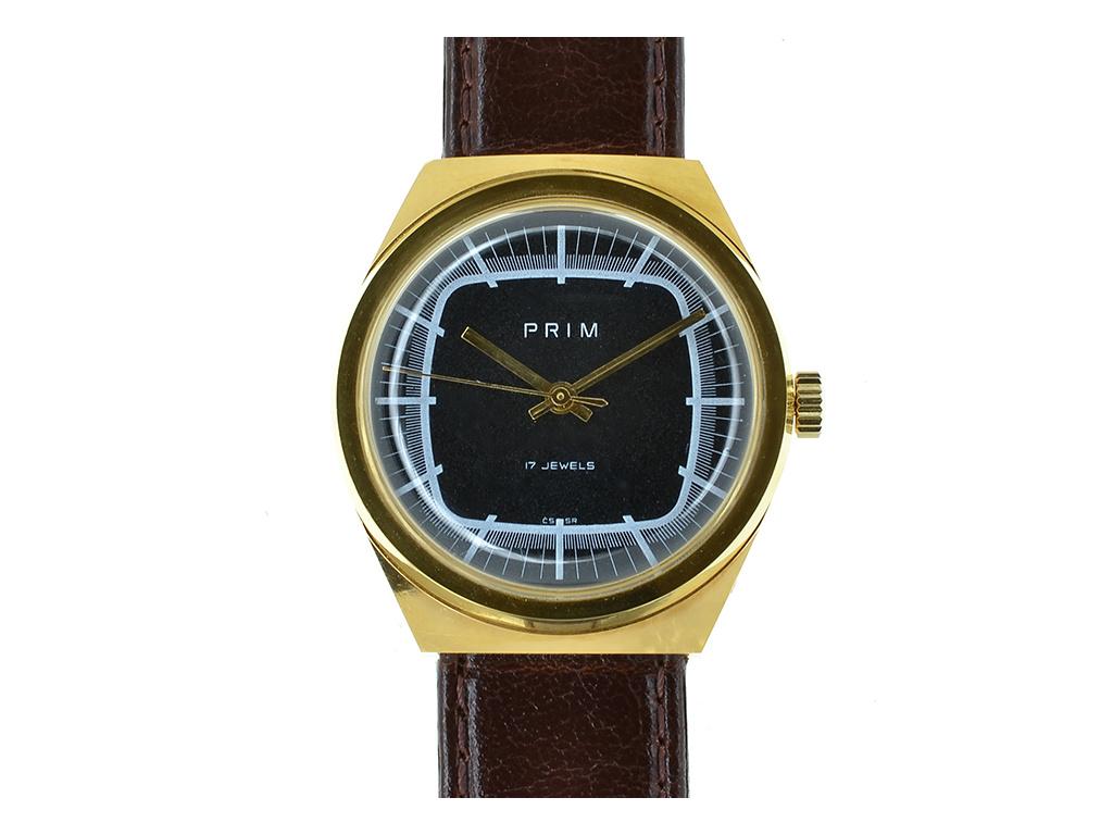 """Starožitné hodinky Prim Elton  Elton """"televize"""" 1970-1980  + Dárek k objednávce"""