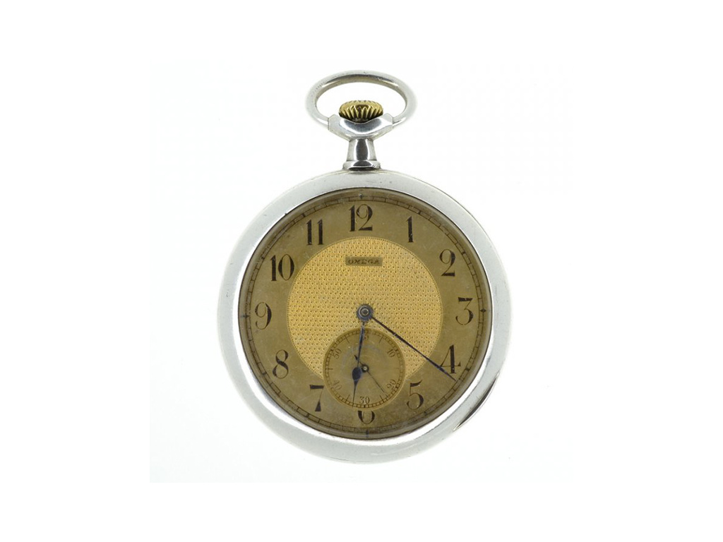 Starožitné stříbrné kapesní hodinky Omega z let 1912-1913 včetně etuje  + Dárek k objednávce