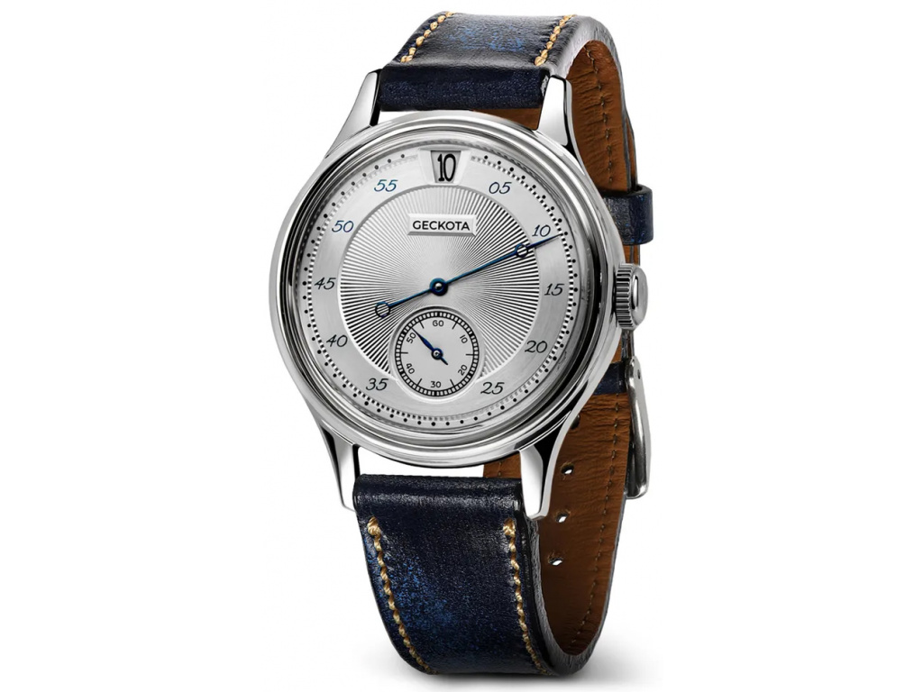 Geckota W-01 Vintage Jumping Hour Silver