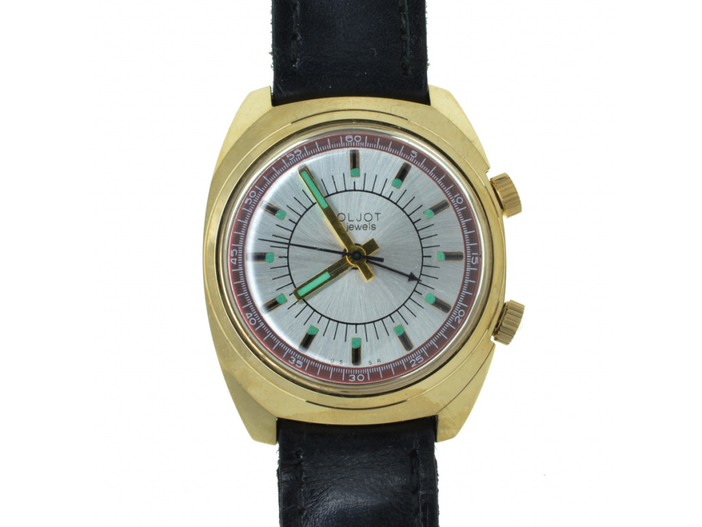 Starožitné hodinky Poljot s budíkem 1970