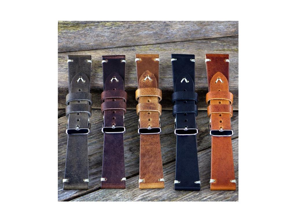 Luxusní ručně šitý řemínek Geckota 01