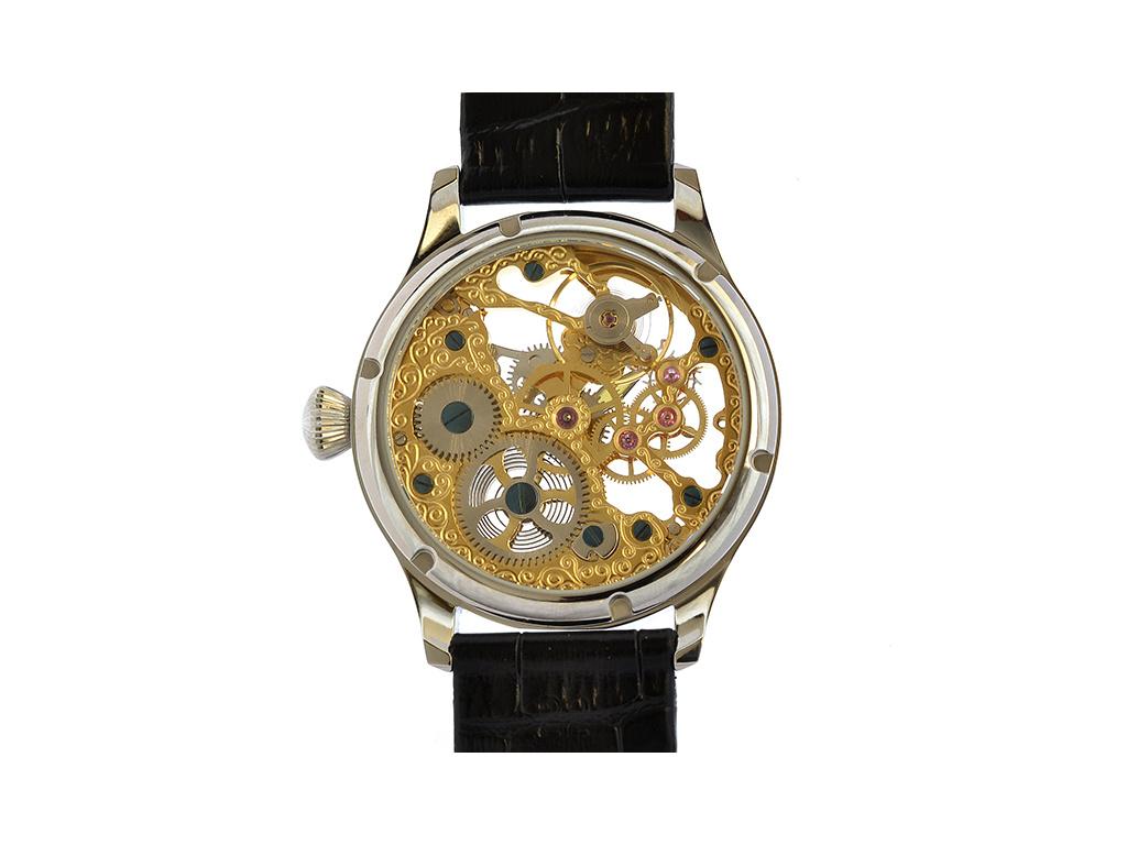 Luxusní skeletové hodinky  - personalizace, gravirovani
