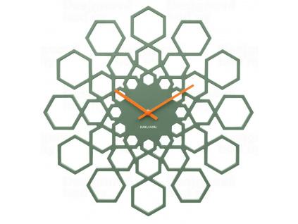 Designové nástěnné hodiny 5639GR Karlsson 48 cm