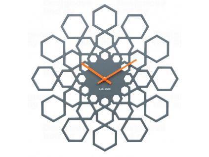 Designové nástěnné hodiny 5639GY Karlsson 48 cm
