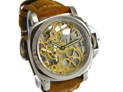 Luxusní skeletové hodinky M0183 - personalizace 10 kusů