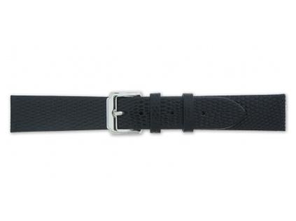 Mavex černý strukturovaný kožený pásek se vzorem ještěrky