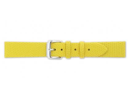 Mavex žlutý strukturovaný kožený pásek se vzorem ještěrky